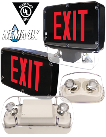 New NEMA 4X, NSF Rated Emergency Lighting from Barron Lighting Group