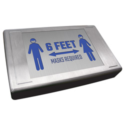 400E-SD Series Die-Cast Aluminum Social Distancing Sign