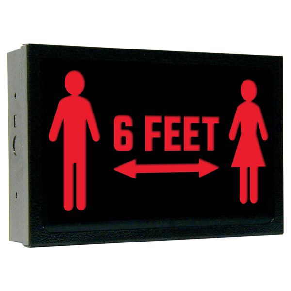 700E-SD Series Steel Social Distancing Sign