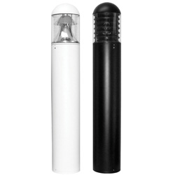 TL702CF Dome Top Round Bollard, Internal Reflectors or Internal Louvres