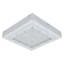 TLED-C/RC Series Surface/Recessed Garage Canopy, 21-72W, 2004-7309 Lumens