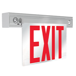 NY900C Series New York City Approved LED Edge-lit Combo Exit